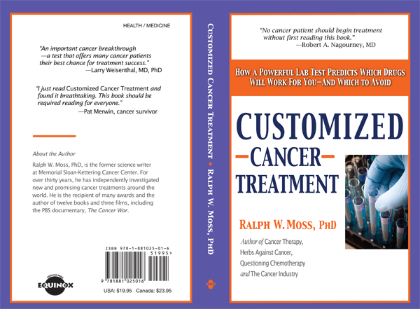 Customized Cancer Treatment Book Cover - Ralph Moss